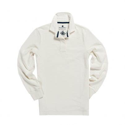 CLASSIC WHITE 1871 WOMEN'S RUGBY SHIRT