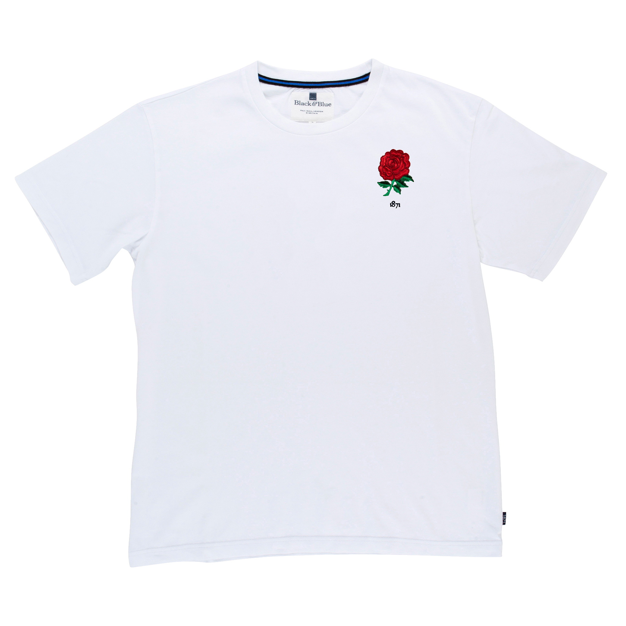 England 1871 White T-Shirt_Front