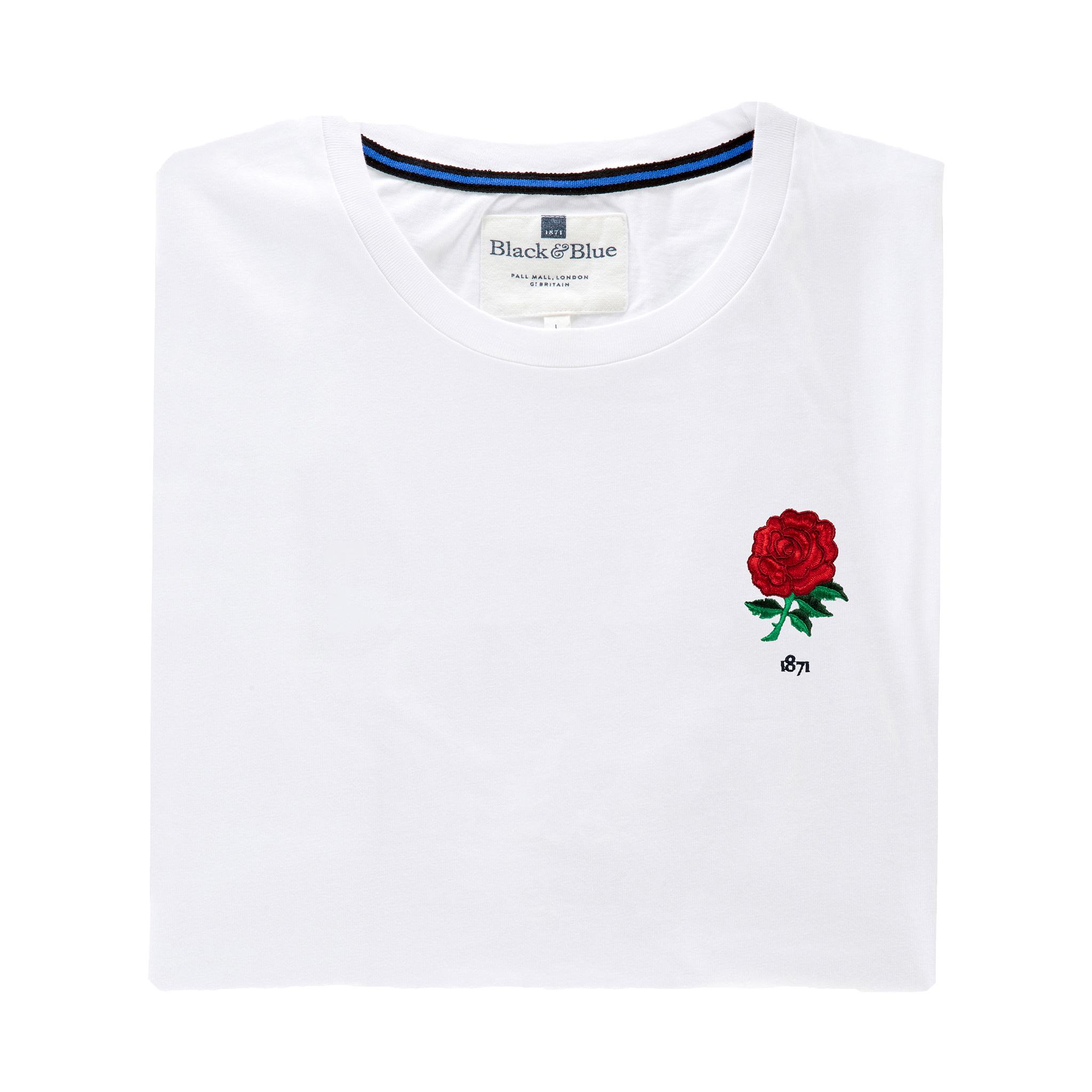 England 1871 White T-Shirt_Folded