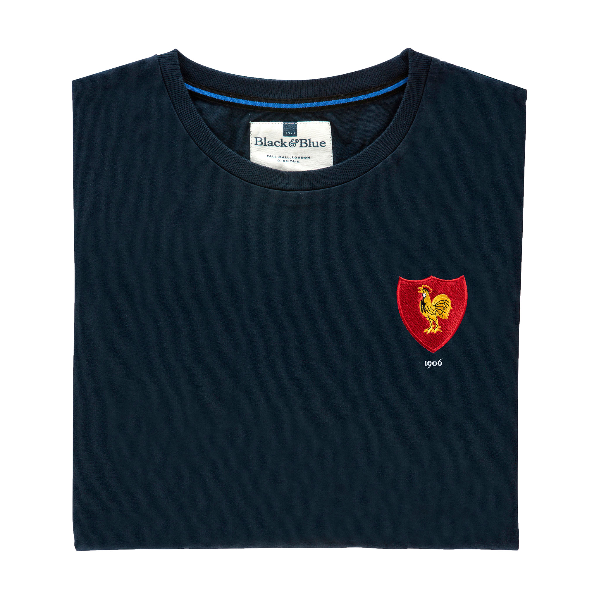 France 1906 Navy T-Shirt_Folded
