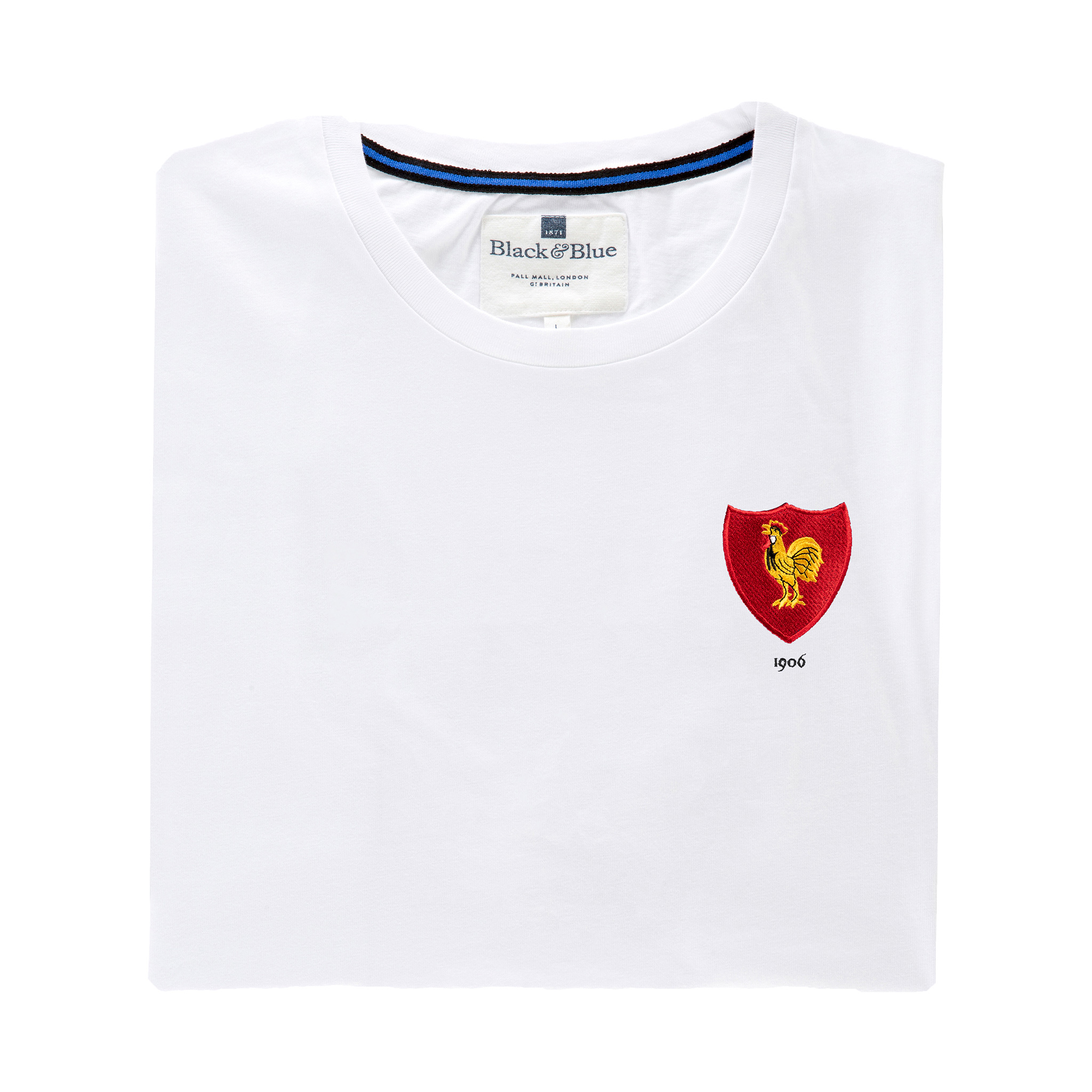 France 1906 White T-Shirt_Folded