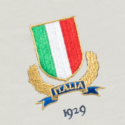 Italy 1929 Vintage Rugby Away Shirt_Logo