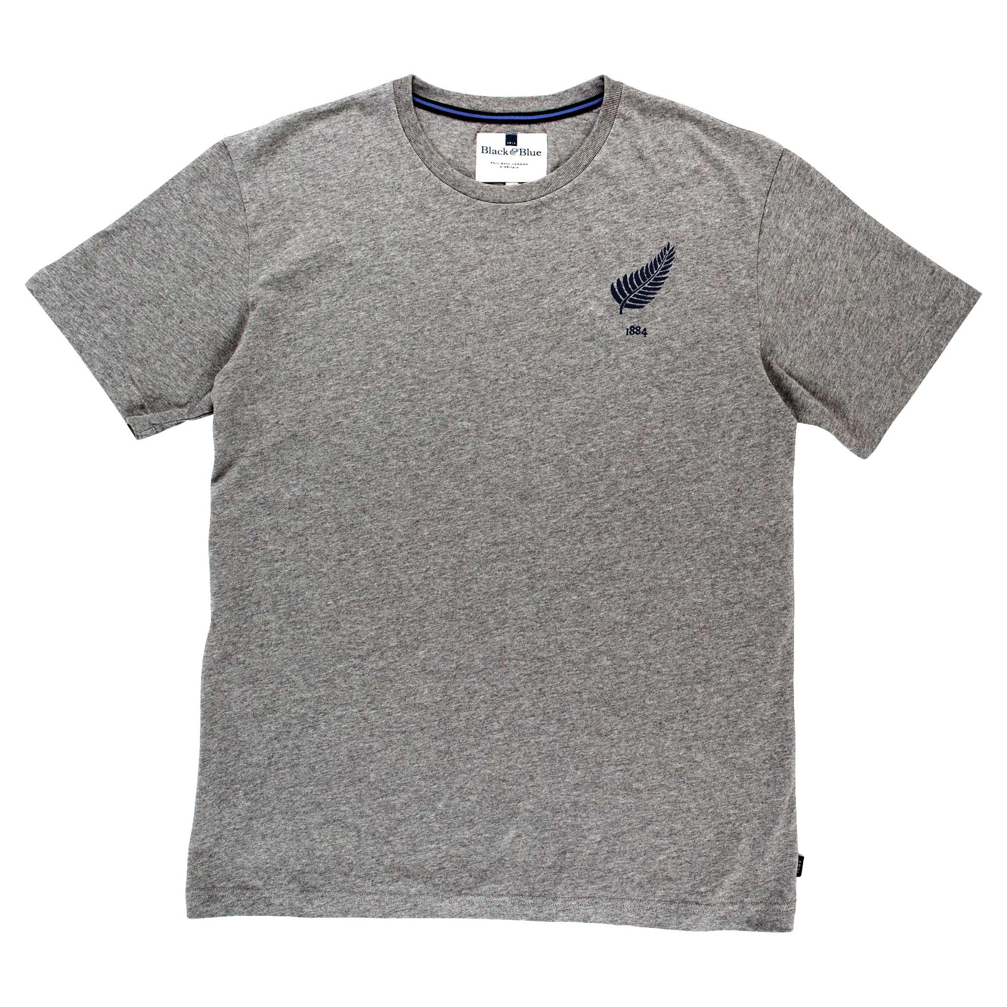 New Zealand 1884 Grey Tshirt_Front