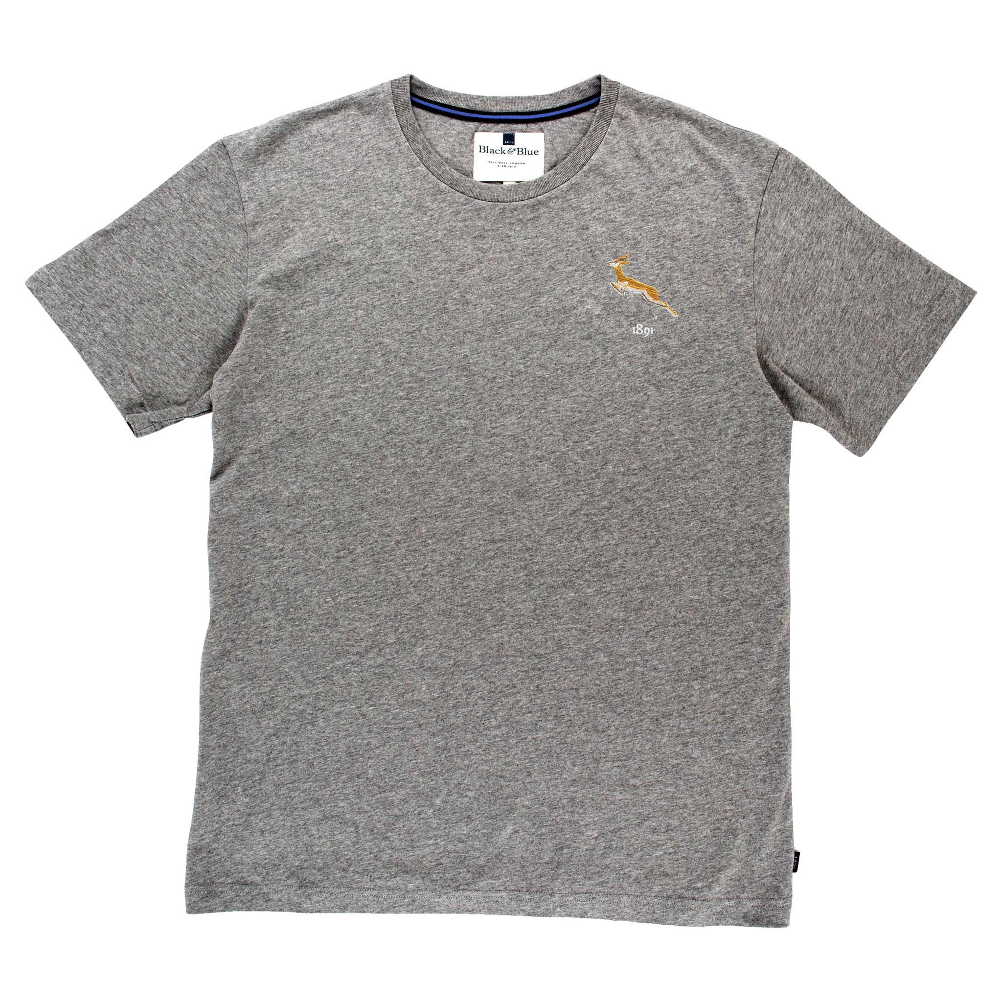 South Africa 1891 Grey Tshirt_Front