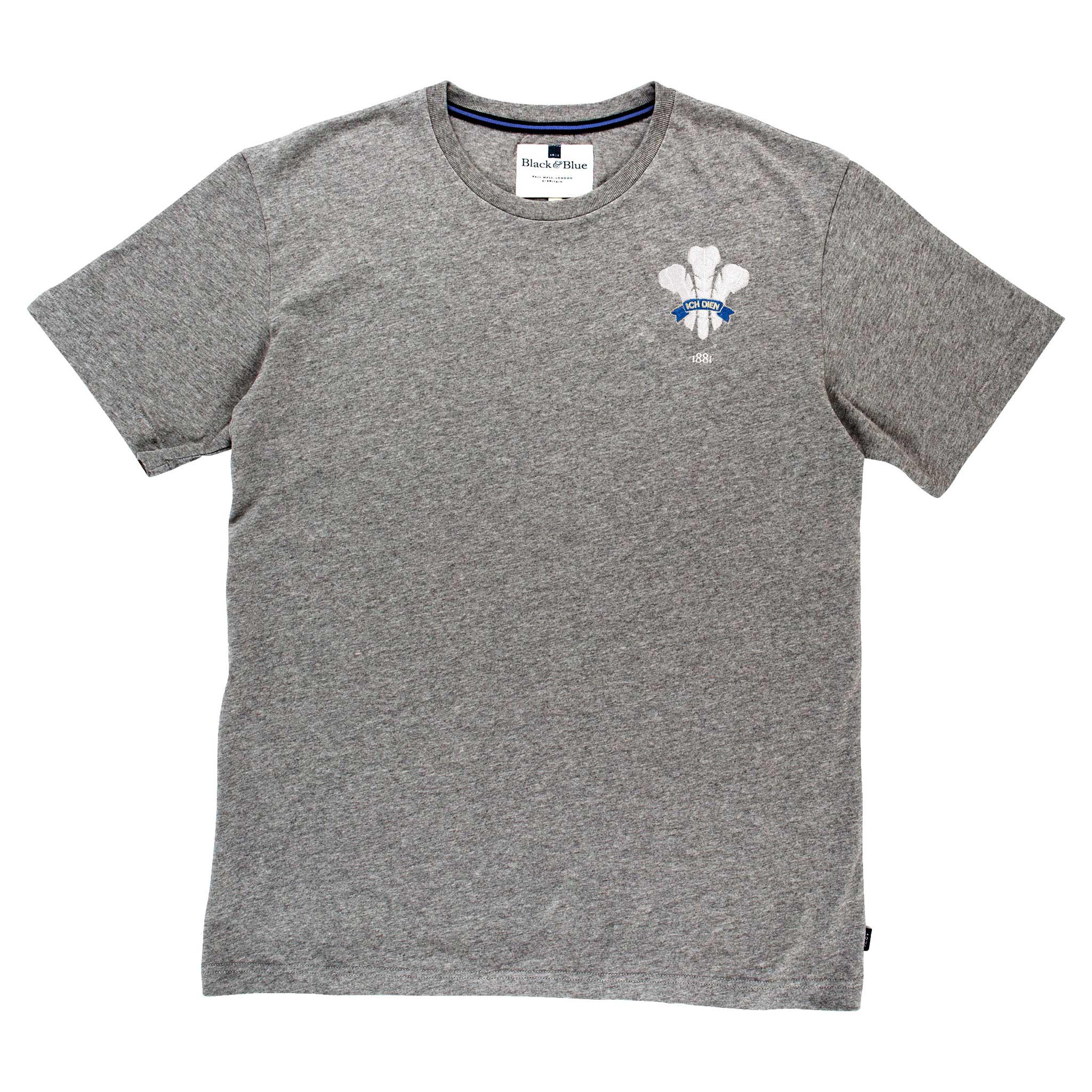 Wales 1881 Grey Tshirt_Front