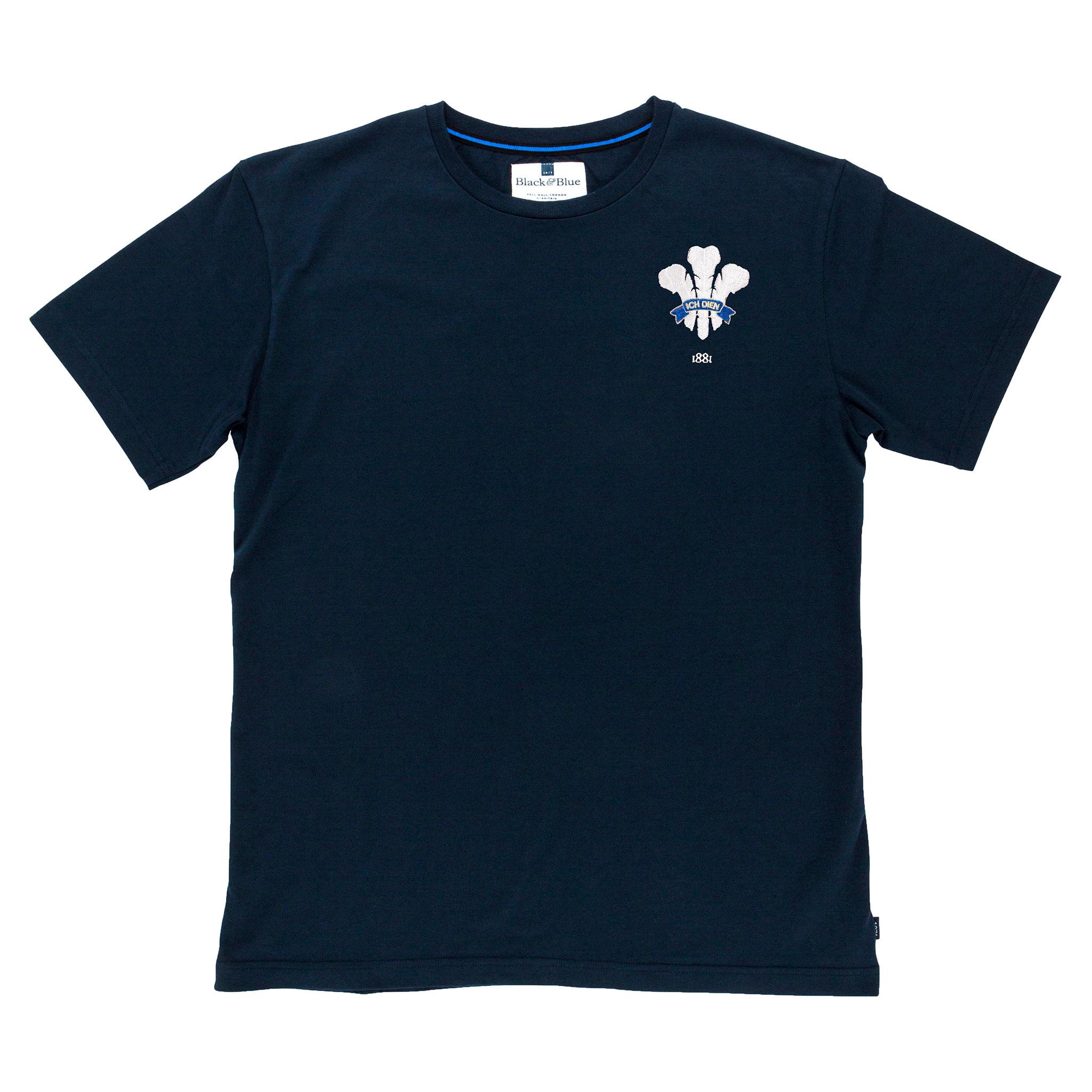 Wales 1881 Navy Tshirt_Front
