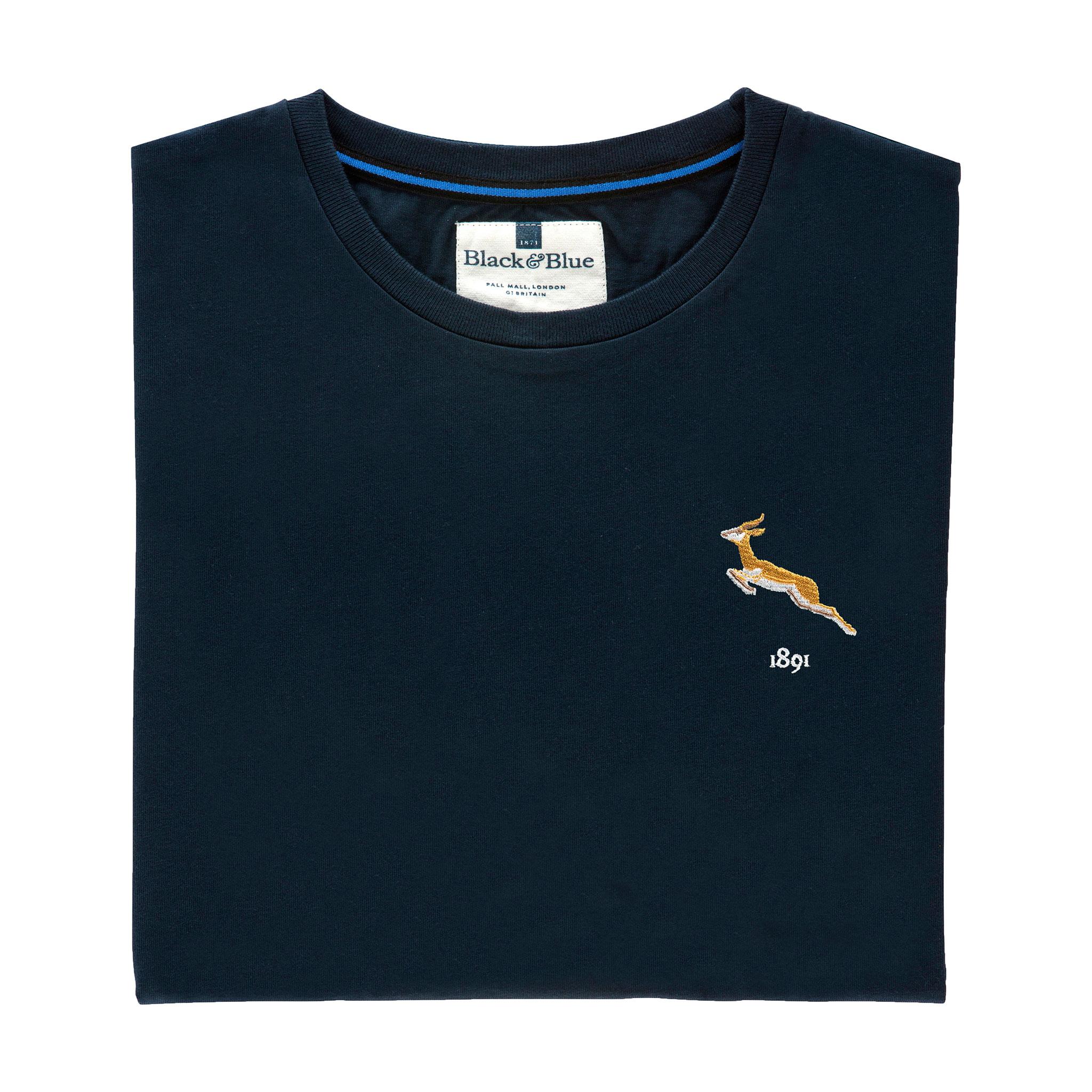 South Africa 1891 Navy Tshirt_Folded