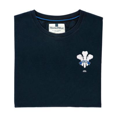 Wales 1881 Navy Tshirt_Folded