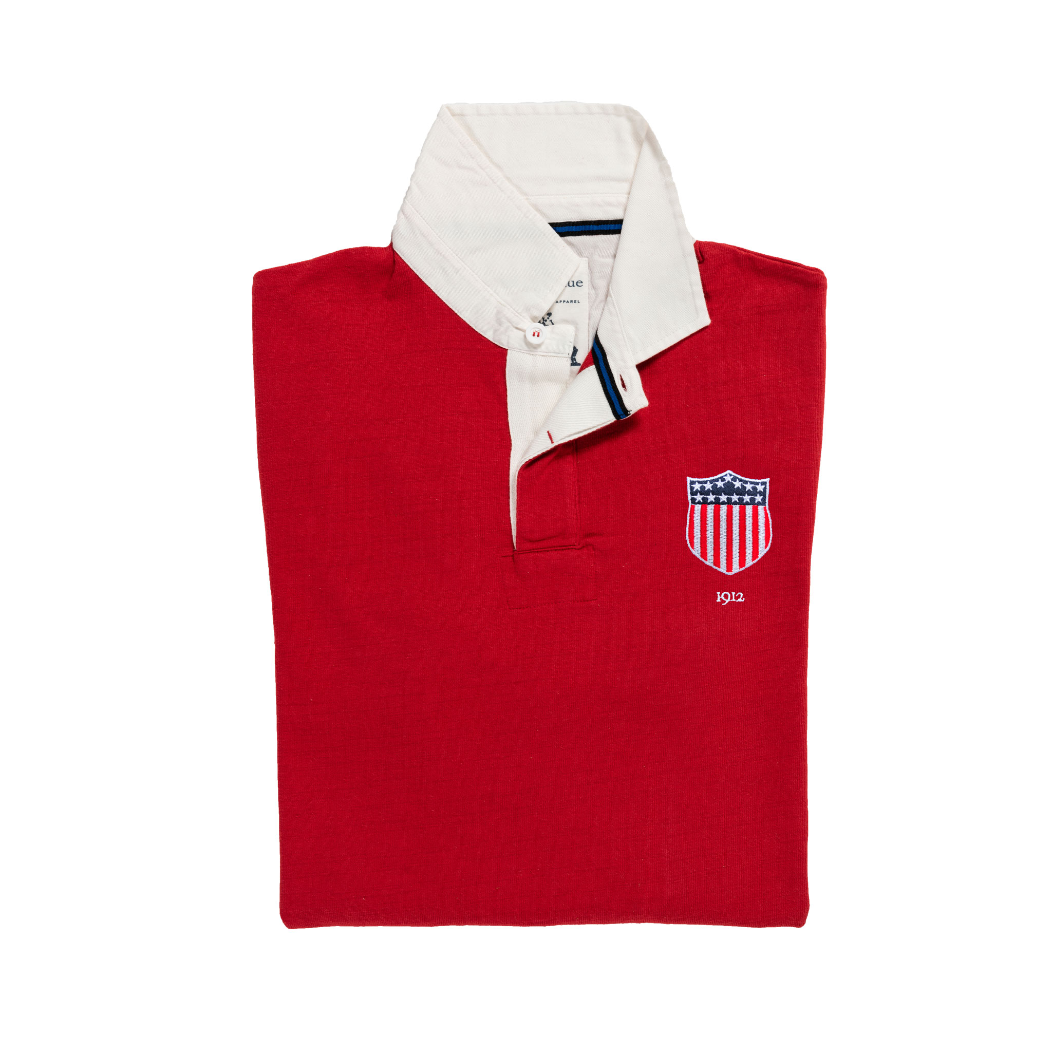 lUSA 1912 Vintage Rugby Shirt_Away_Red