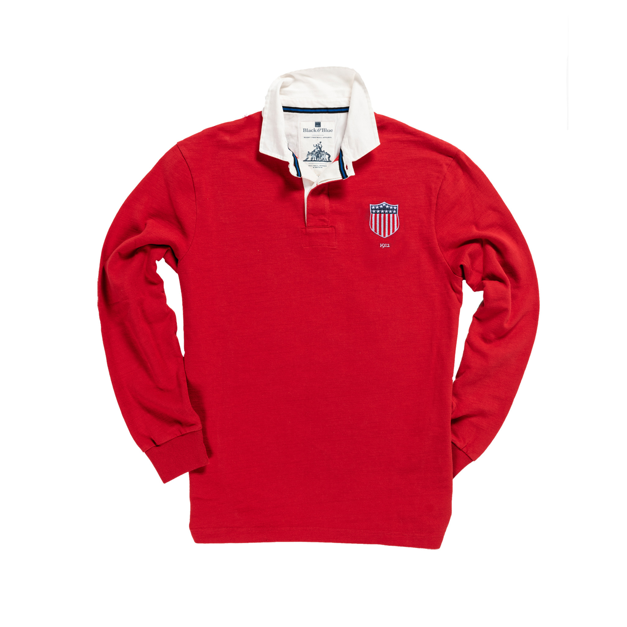 USA 1912 Vintage Rugby Shirt_Away_Red