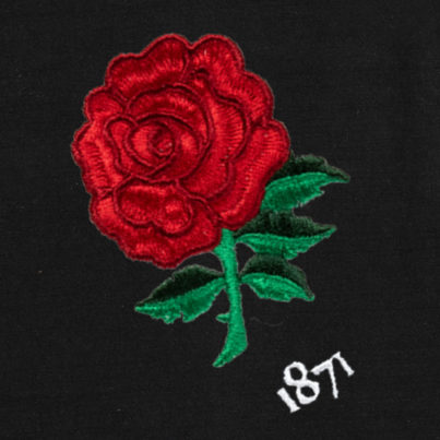 England 1871 Black Vintage Rugby Shirt_Logo