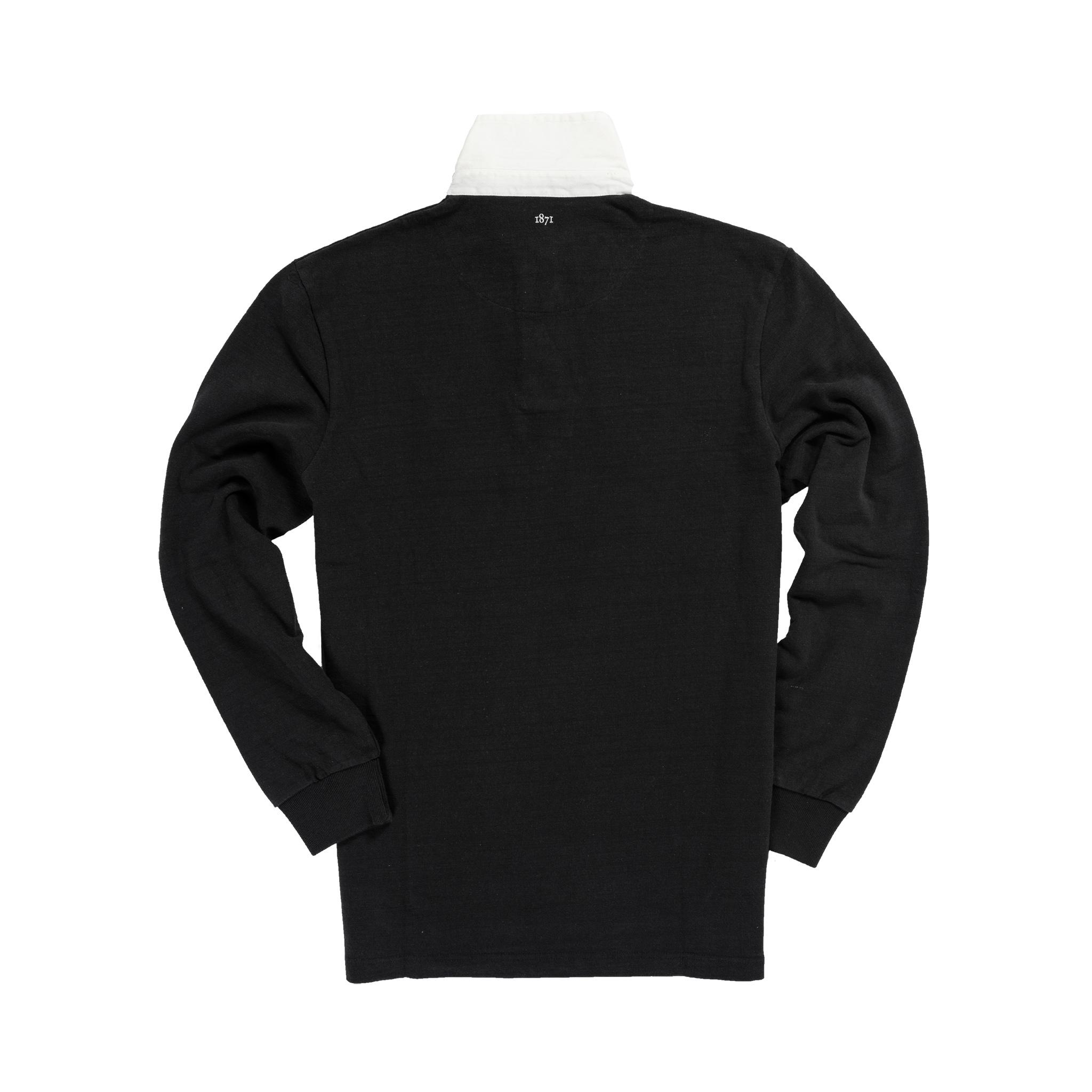 England 1871 Black Vintage Rugby Shirt_Back