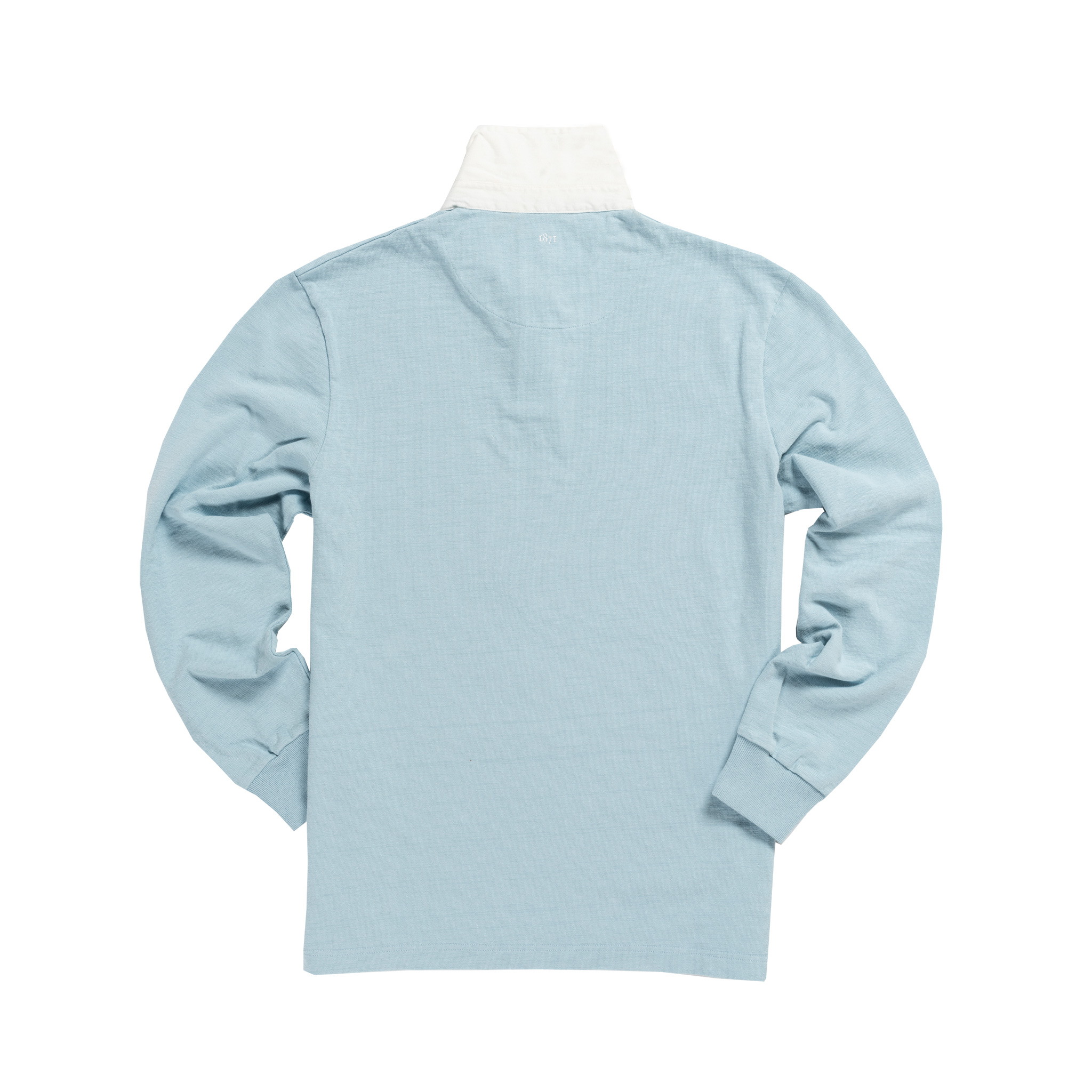 England 1871 Sky Blue Vintage Rugby Shirt_Back