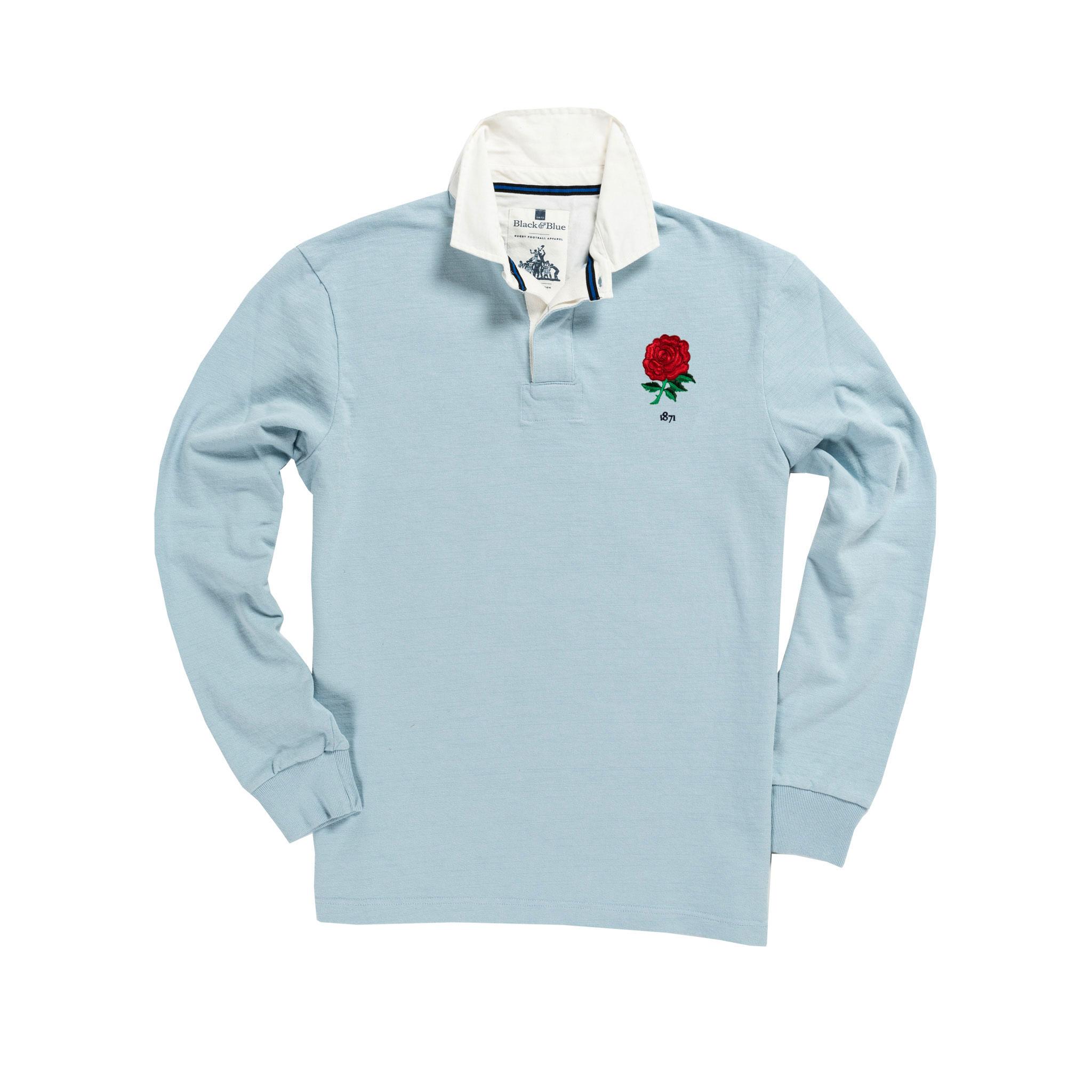 England 1871 Sky Blue Vintage Rugby Shirt