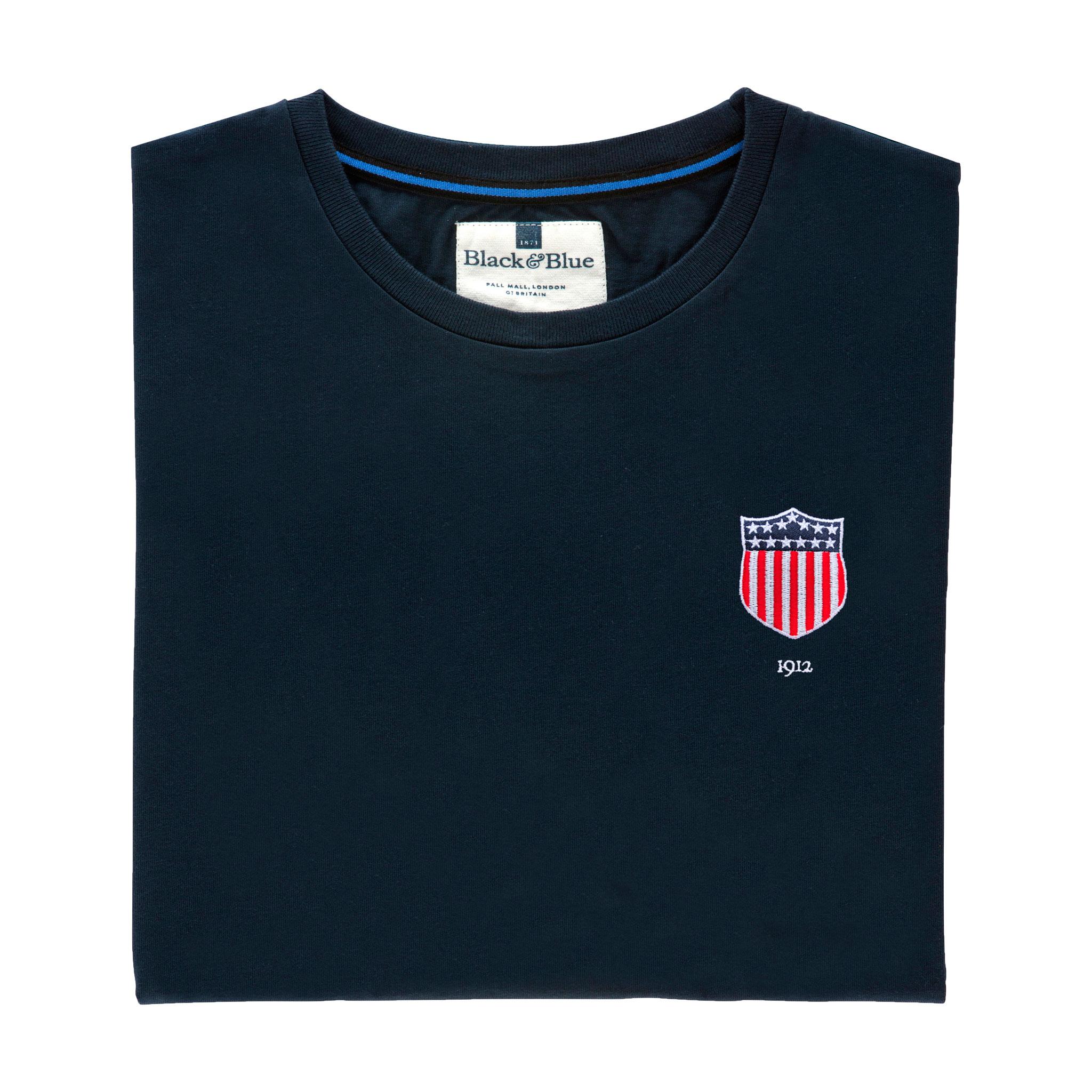 USA 1912 Navy Tshirt_Folded