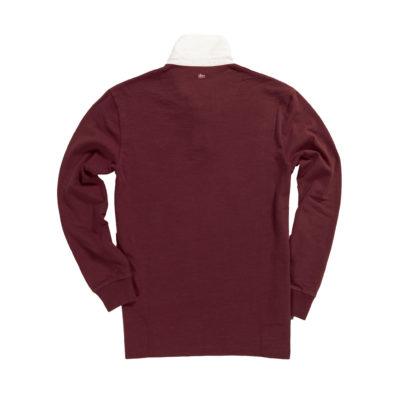 Classic Burgundy 1871 Vintage Rugby Shirt_Back