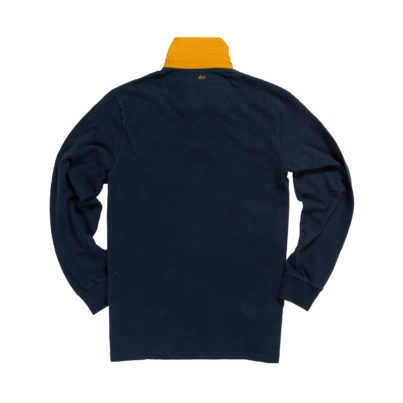 Classic Navy With Gold Collar 1871 Vintage Rugby Shirt_Back