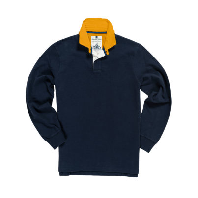 CLASSIC NAVY BLUE WITH GOLD COLLAR 1871 RUGBY SHIRT