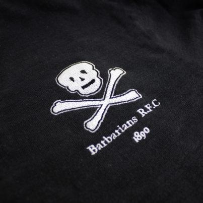 Barbarians 1890 Skull Rugby Shirt Asphalt_Logo