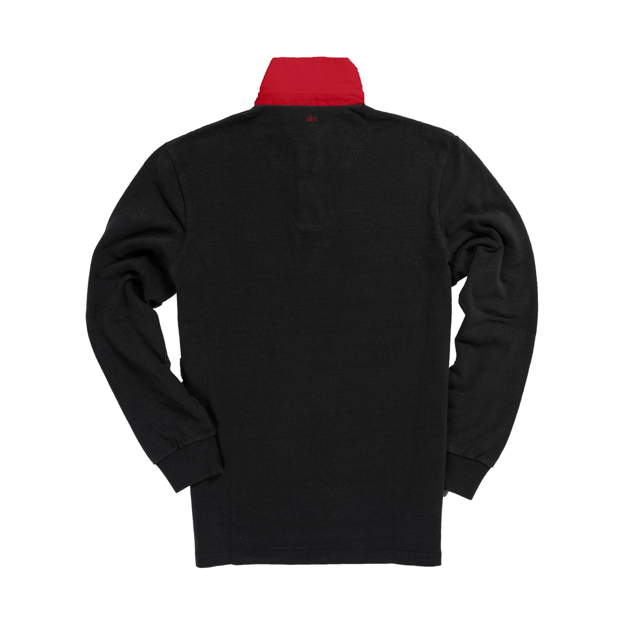 Wales 1881 Black Vintage Rugby Shirt_Back
