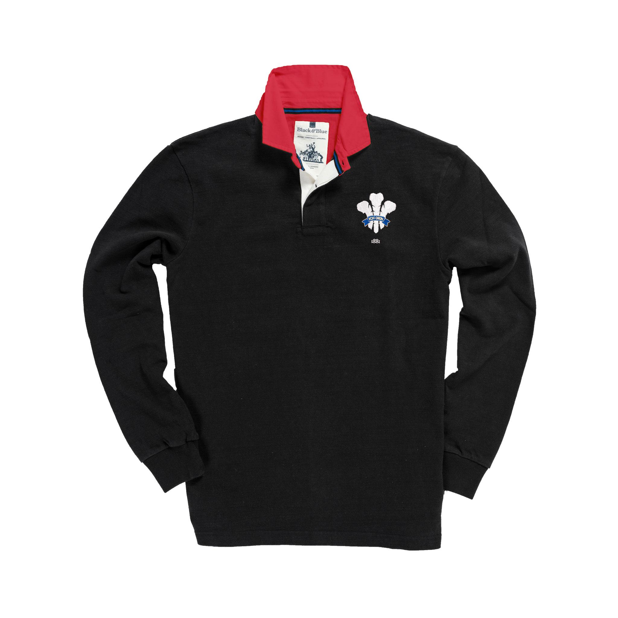 Wales 1881 Black Vintage Rugby Shirt