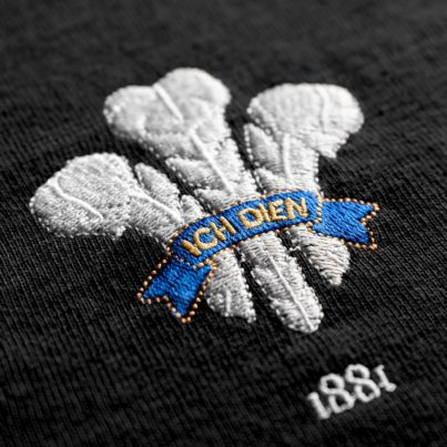 Wales 1881 Black Vintage Rugby Shirt_Logo