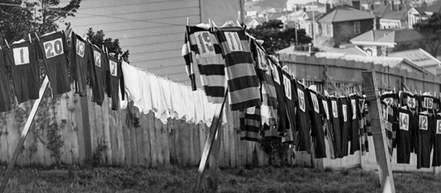 Rugby Shirts on Washing line_photo