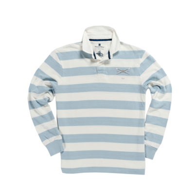 PEMBROKE COLLEGE 1842 RUGBY SHIRT – BLUE & WHITE