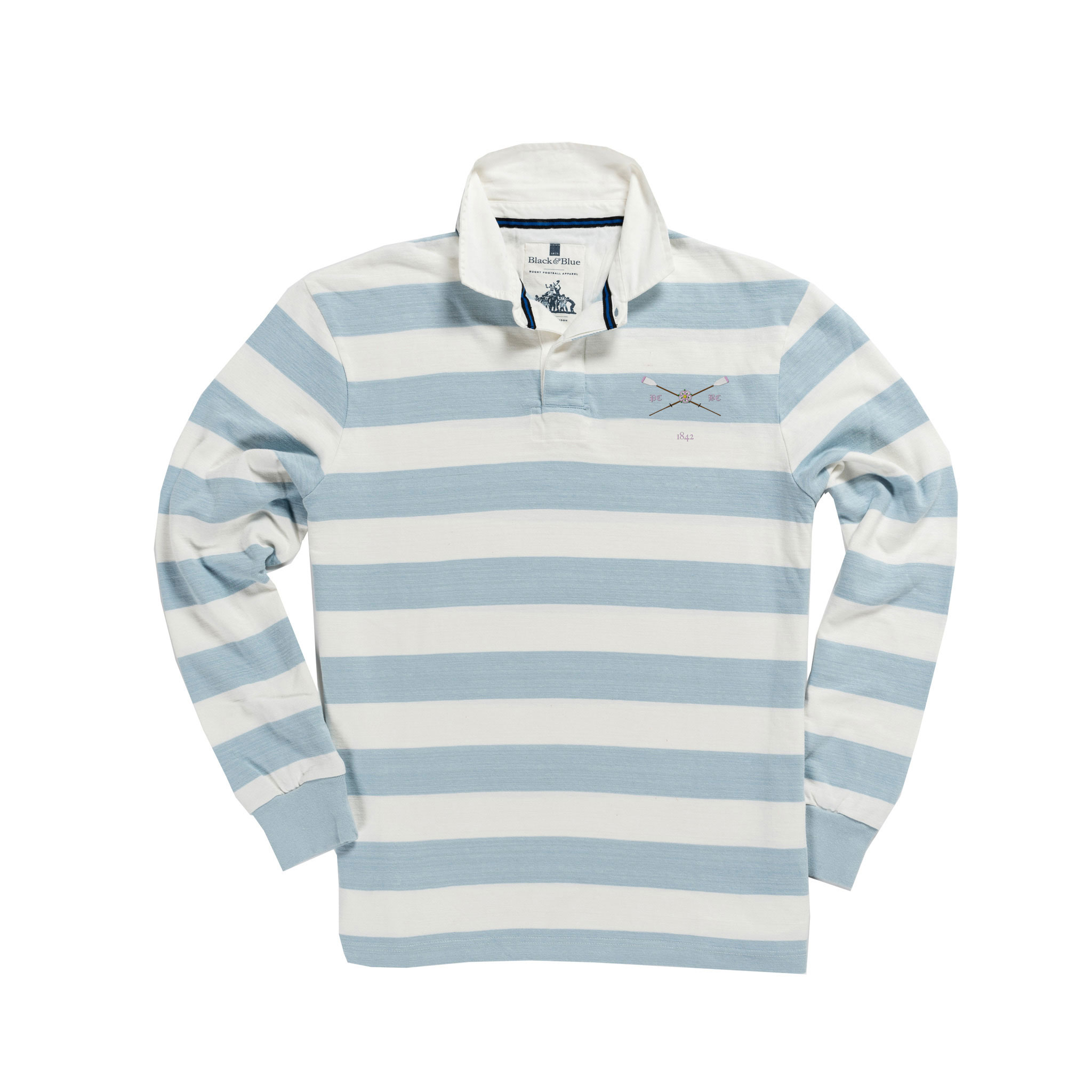 Pembroke 1842 Rugby Shirt Blue and White_Front