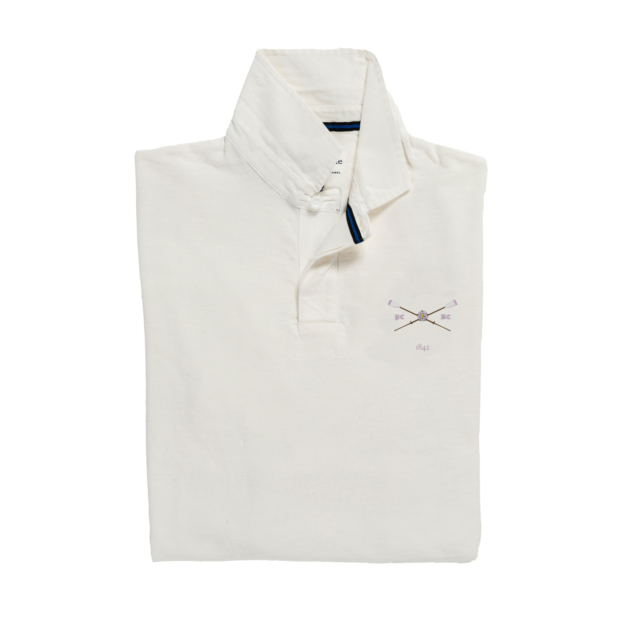 Pembroke 1842 Rugby Shirt White_Folded