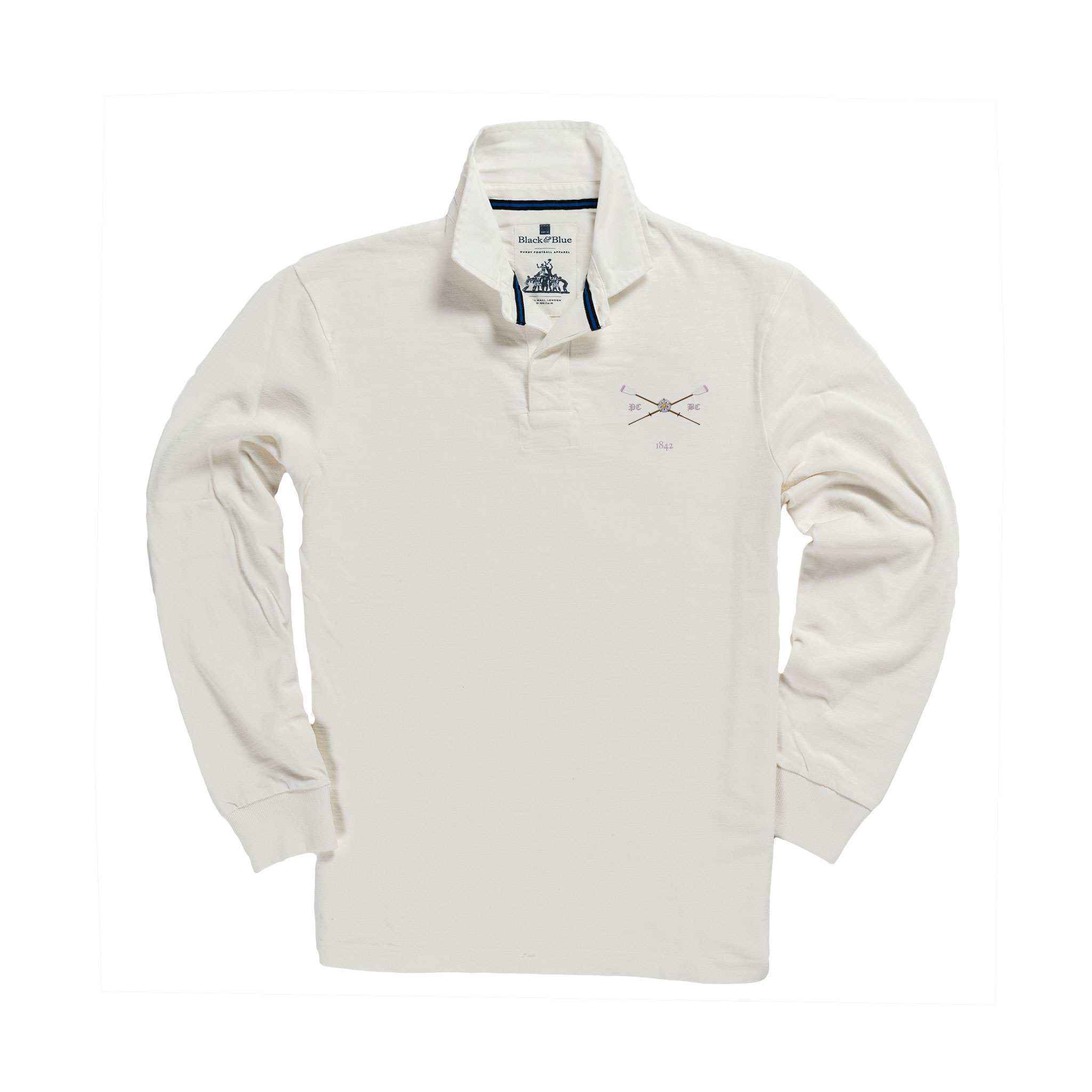 Pembroke 1842 Rugby Shirt White_Front