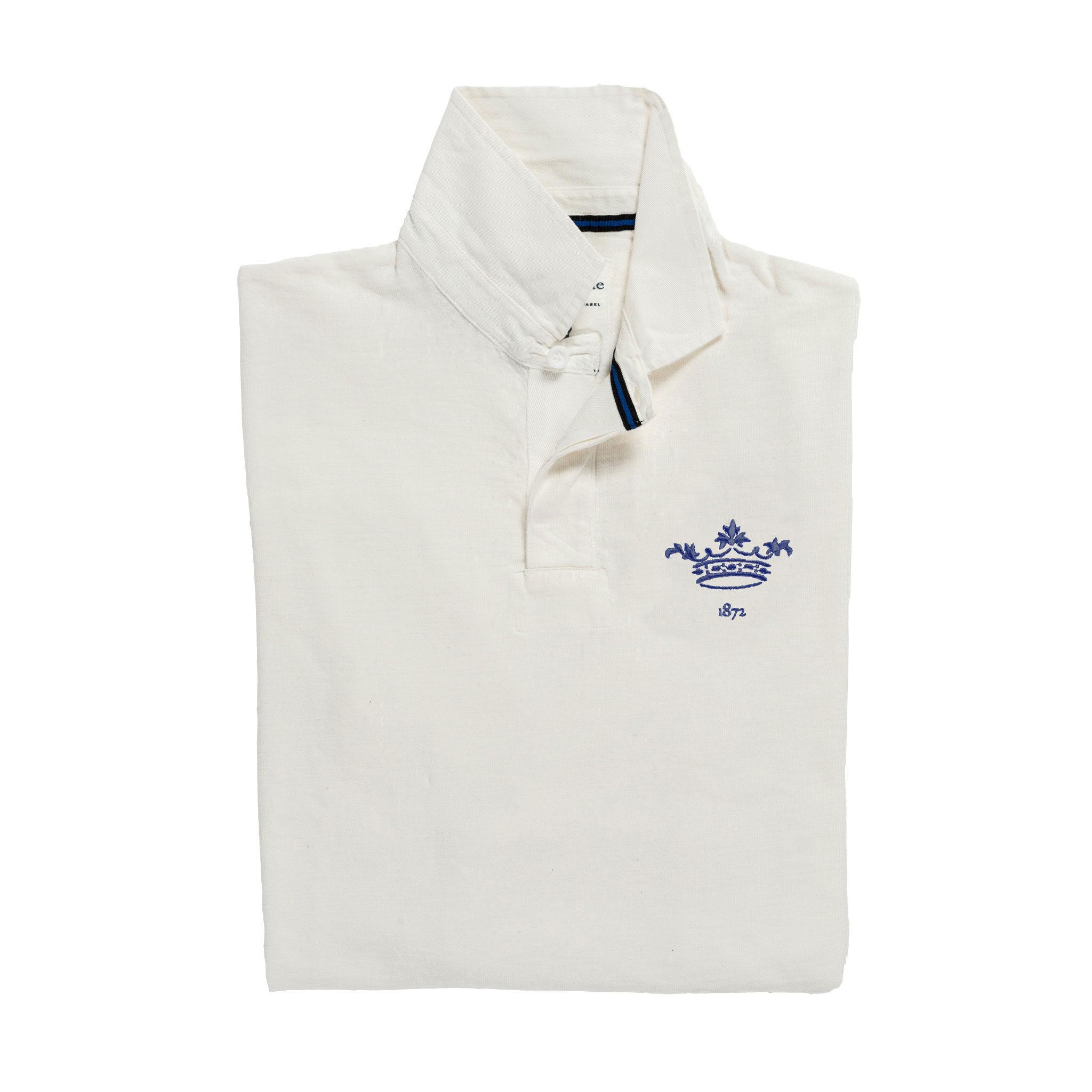 Oxford 1872 Rugby Shirt White_Folded