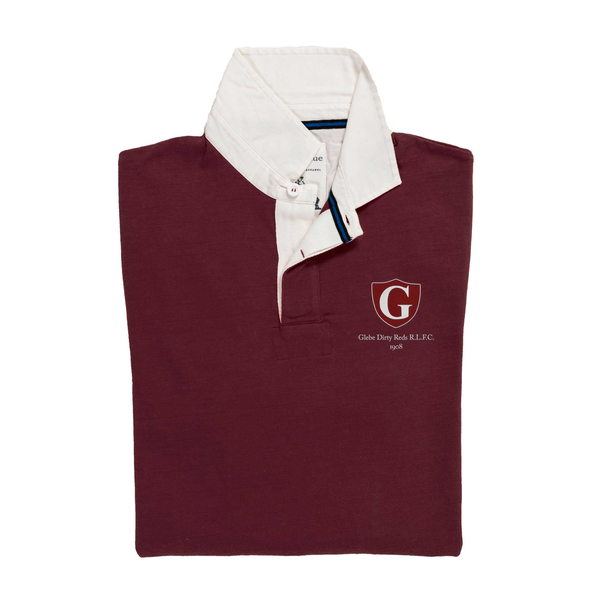 Glebe Dirty Reds 1908 Rugby Shirt_Folded