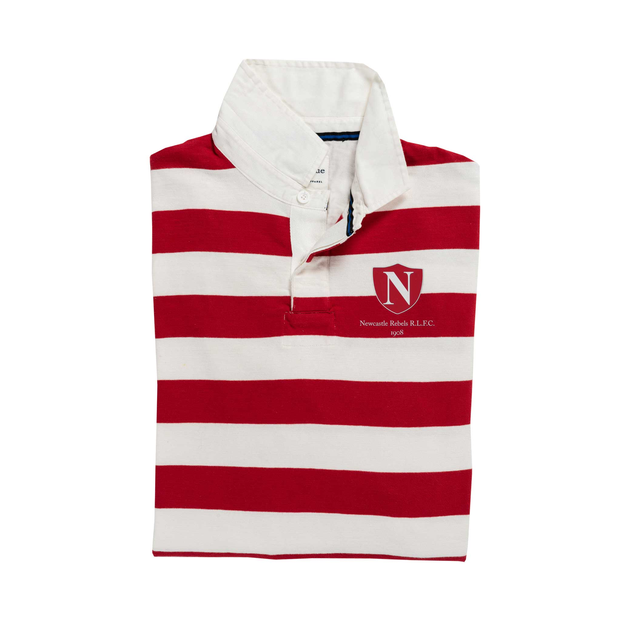 Newcastle Rebels 1908 rugby Shirt_Folded