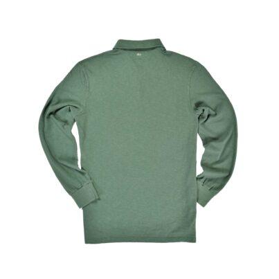 Green Long Sleeve 1871 Polo Shirt_Back