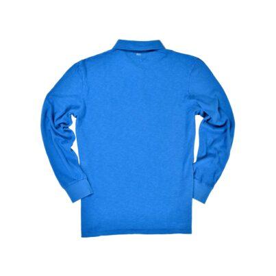 Royal Blue Long Sleeve 1871 Polo Shirt_Back