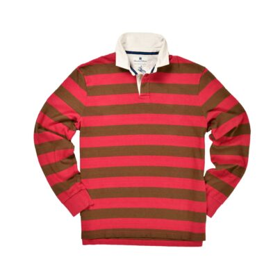 CLASSIC RASPBERRY & CARAFE 1871 RUGBY SHIRT