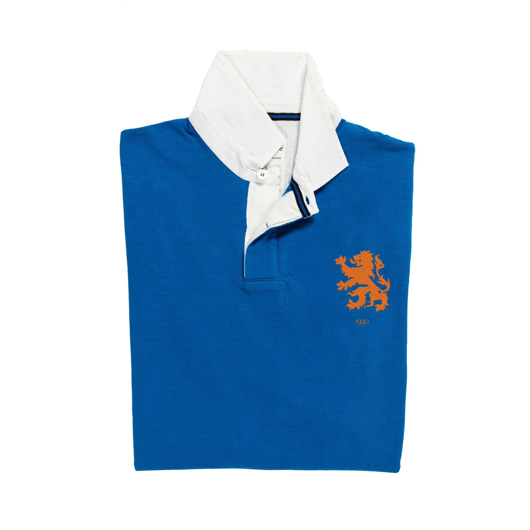 Netherlands 1930 Royal Blue Rugby Shirt_Folded