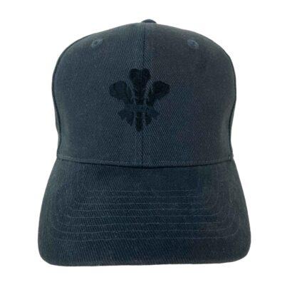 WALES BASEBALL CAP- BLACK LOGO